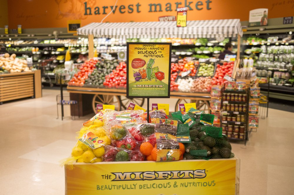 "Discounted produce that Hannaford is calling  ""misfits"" is on sale at the store in Yarmouth."
