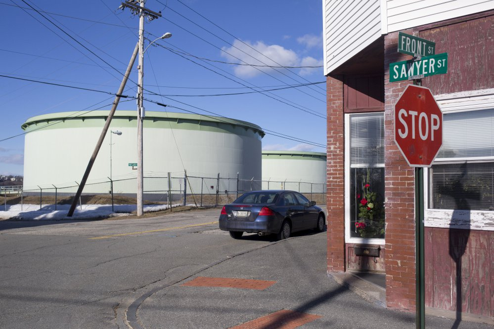 Portland Pipe Line Corp. oil tanks near Sawyer and Front streets in South Portland. A World War II-era pipeline that once carried oil from Portland Harbor to Canadian refineries is a flashpoint in the debate over the city's commitment to industry vs. environmentalism. Councilors passed an ordinance in 2014 meant to keep the pipeline from being used as a means of bringing in tar sands oil from Canada. Now 23 storage tanks lie mostly dormant throughout the city.