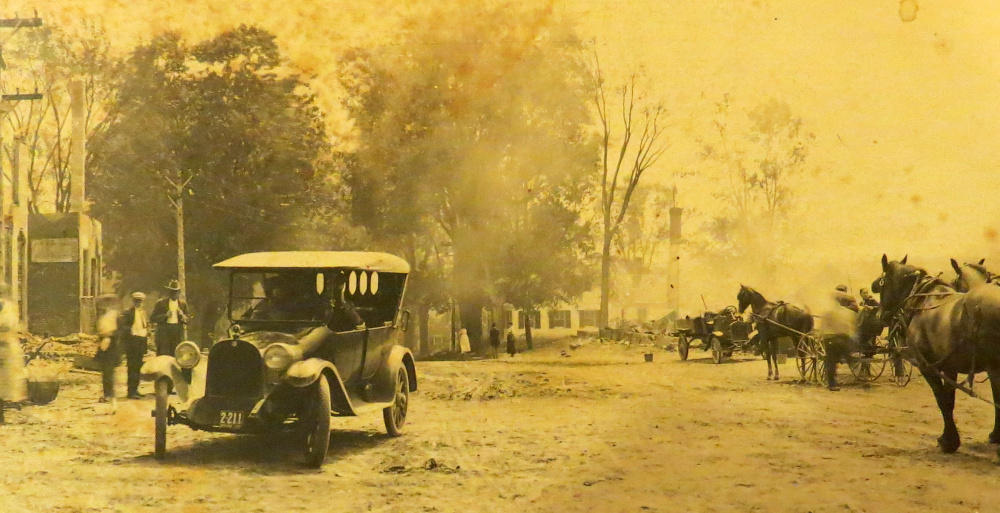 A presentation by Dale Potter-Clark is planned for 6:30 p.m. March 15 at Maranacook Community High School. The event will include a slide show and narrative about what existed at Readfield Corner prior to the fire in 1921 and the devastating aftermath.