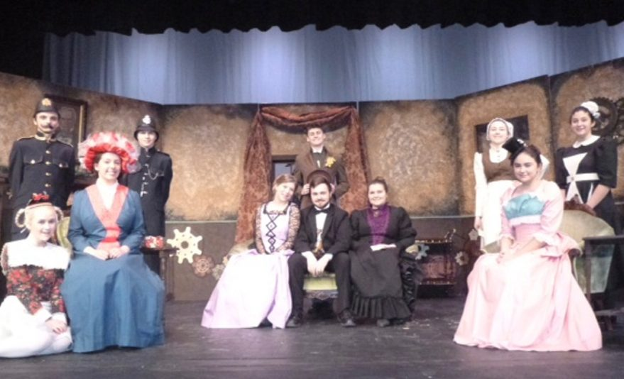 "Contributed photo   The cast of ""Chemical Imbalance a Jekyll and Hyde Tale"" in front, from left, are Lisa Huard, Susan Melanson, Hannah Comfort, Jon Thompson, Emma Jones and Estephanie Baez. In back, from left, are Kolby Lovett, Elwin Moss, Ty Lecrone, Alexandria Lecrone and Jasmine Liberty."