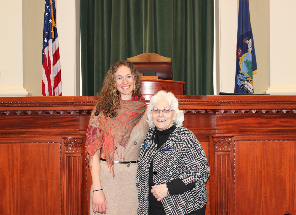 Dr. Marya Goettsche Spurling, left, of Skowhegan Family Medicine, visited the State House March 9. She served as Doctor of the Day. With Spurling is Rep. Betty Austin, D-Skowhegan.