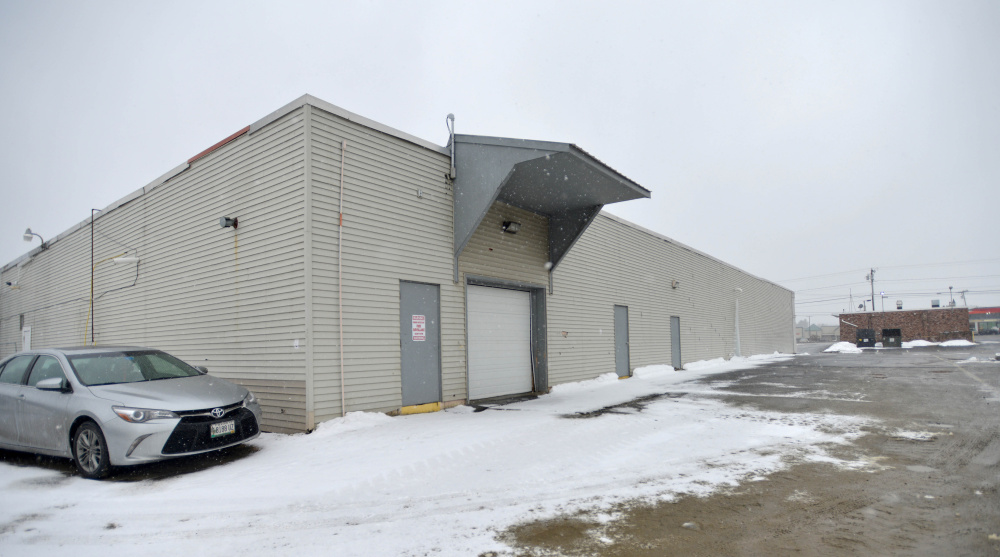 Part of the future location of a Harbor Freight store on Main Street in Waterville is seen Friday. The building, which once housed Aaron's rental, is expected to get a 6,384-square-foot addition this sumer.