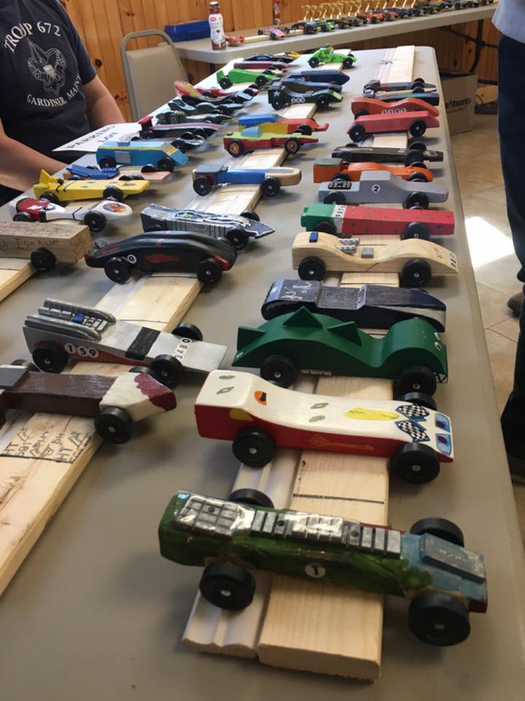 Contributed photo Gardiner Pack 672 Pinewood Derby was held March 11 in Gardiner.