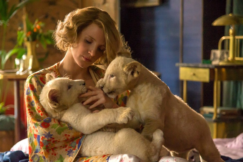 """Jessica Chastain stars as Antonina Zabinski in director Niki Caro's """"The Zookeeper's Wife,"""" a Focus Features release."""