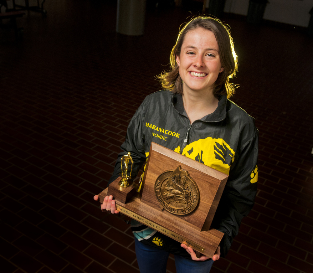 Maranacook junior Laura Parent is the Kennebec Journal Girls Nordic Skier of the Year.