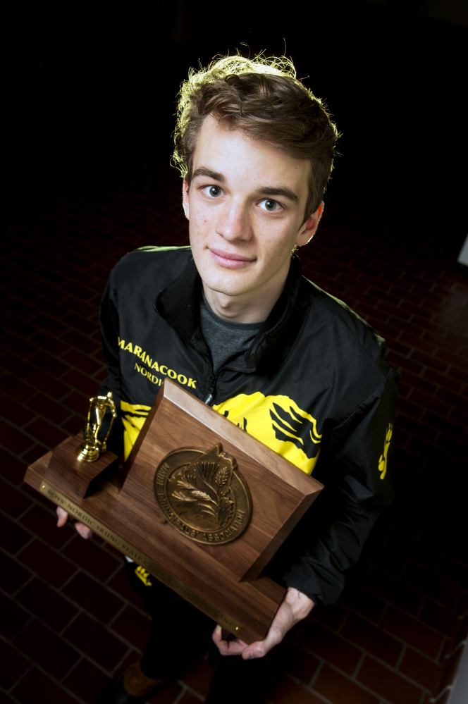 Maranacook senior Zach Holman is the Kennebec Journal Boys Nordic Skier of the Year.