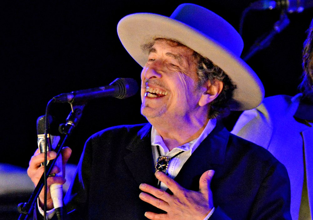Bob Dylan performs during  The Hop Festival in Paddock Wood, Kent in 2012.