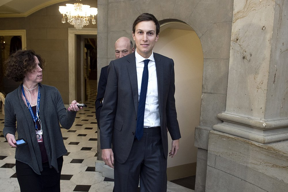 Jared Kushner, son-in-law and adviser to  President Trump. According to The New York Times, Kushner met with Russian Ambassador Sergey Kislyak during both the election and transition period, and later, at Kislyak's request, met with Sergey Gorkov, chief of Russian government-owned Vnesheconombank.