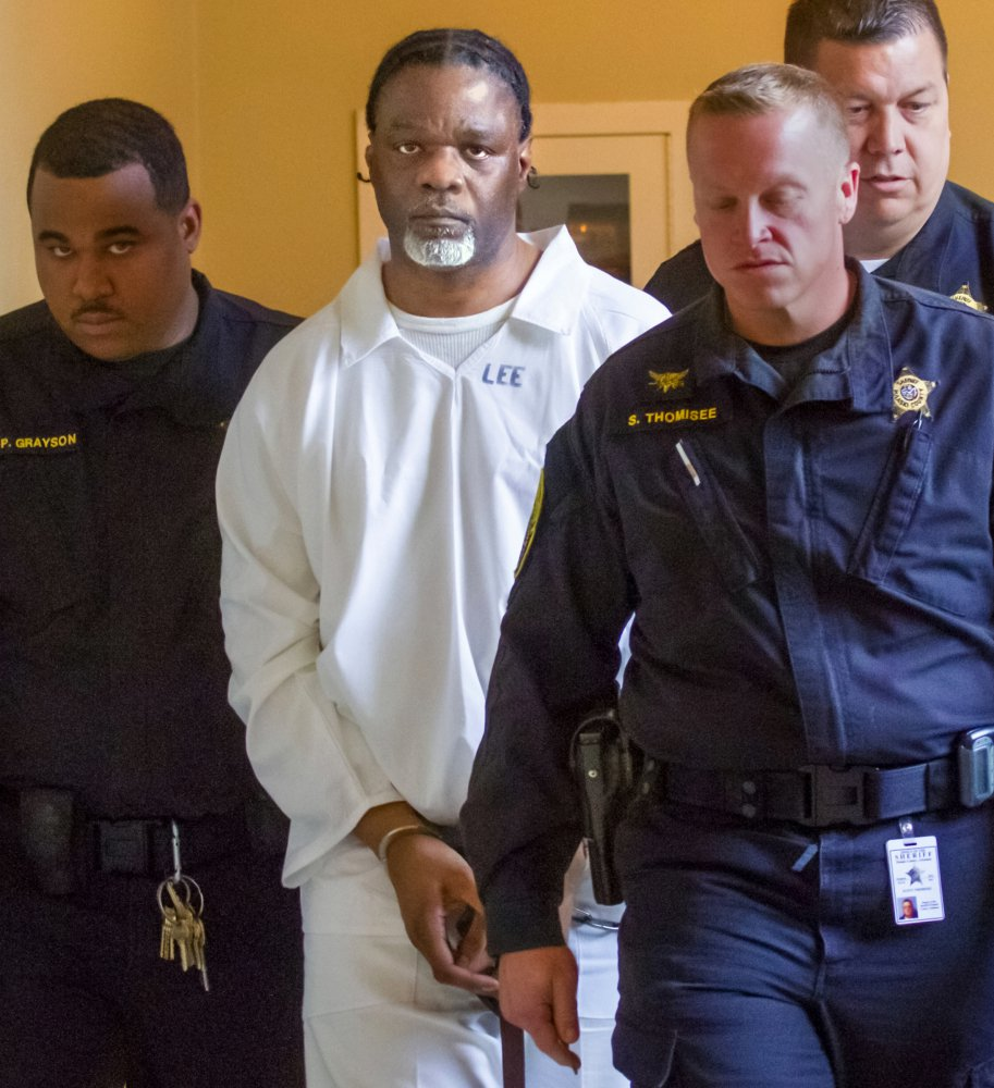 Ledell Lee appears in Pulaski County Circuit Court in Arkansas on Tuesday for a hearing on his planned execution. Lee and Stacey Johnson were set for execution Thursday night. Lee was sentenced to death after being convicted of killing Debra Reese with a tire iron in February 1993 in Jacksonville.