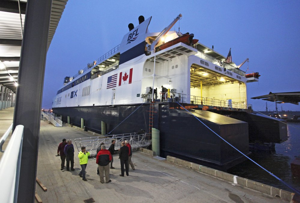 The Cat docks in Portland last year. This season, the ferry will run from May 31 to Oct. 15.