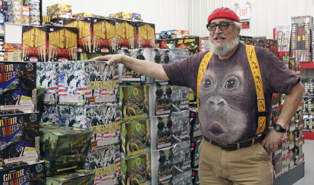 "Allen Cohen, known locally as ""Big Al,"" uses a warehouse in Wiscasset to store consumer-grade fireworks that he sells at his store on Route 1."