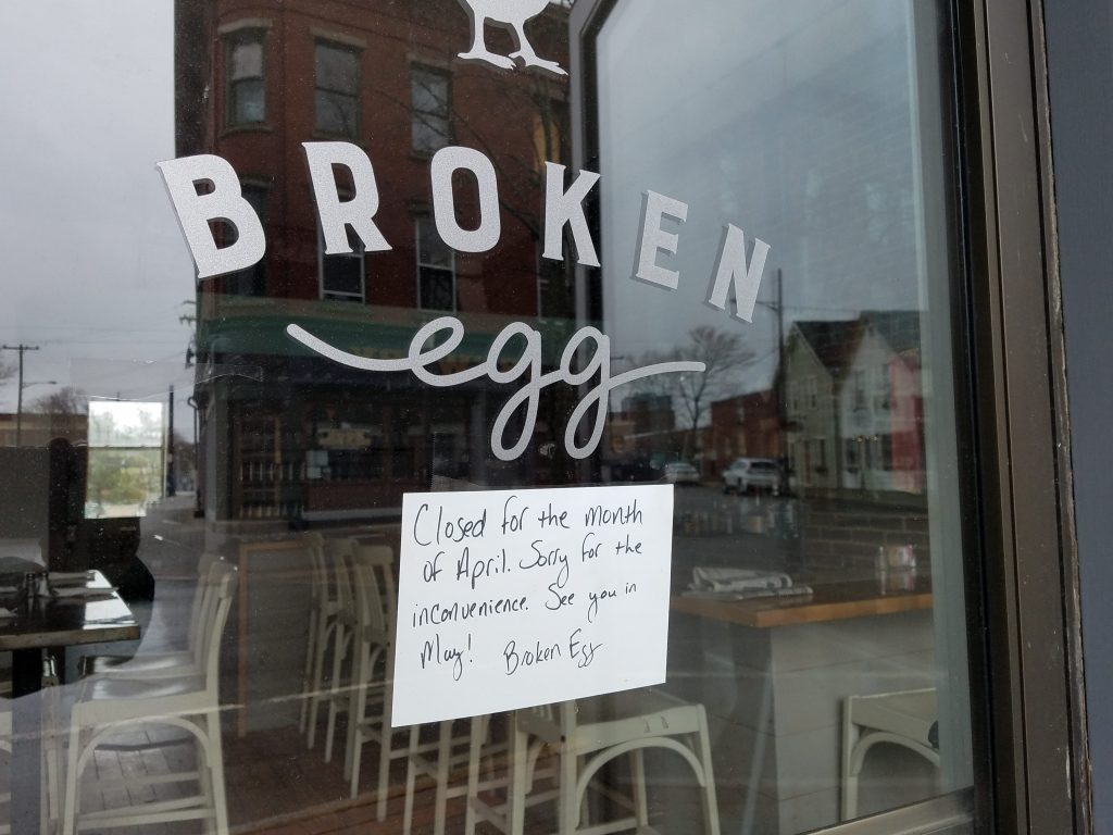 Broken Egg in Rockland plans to reopen next month after it renames its Main Street business.