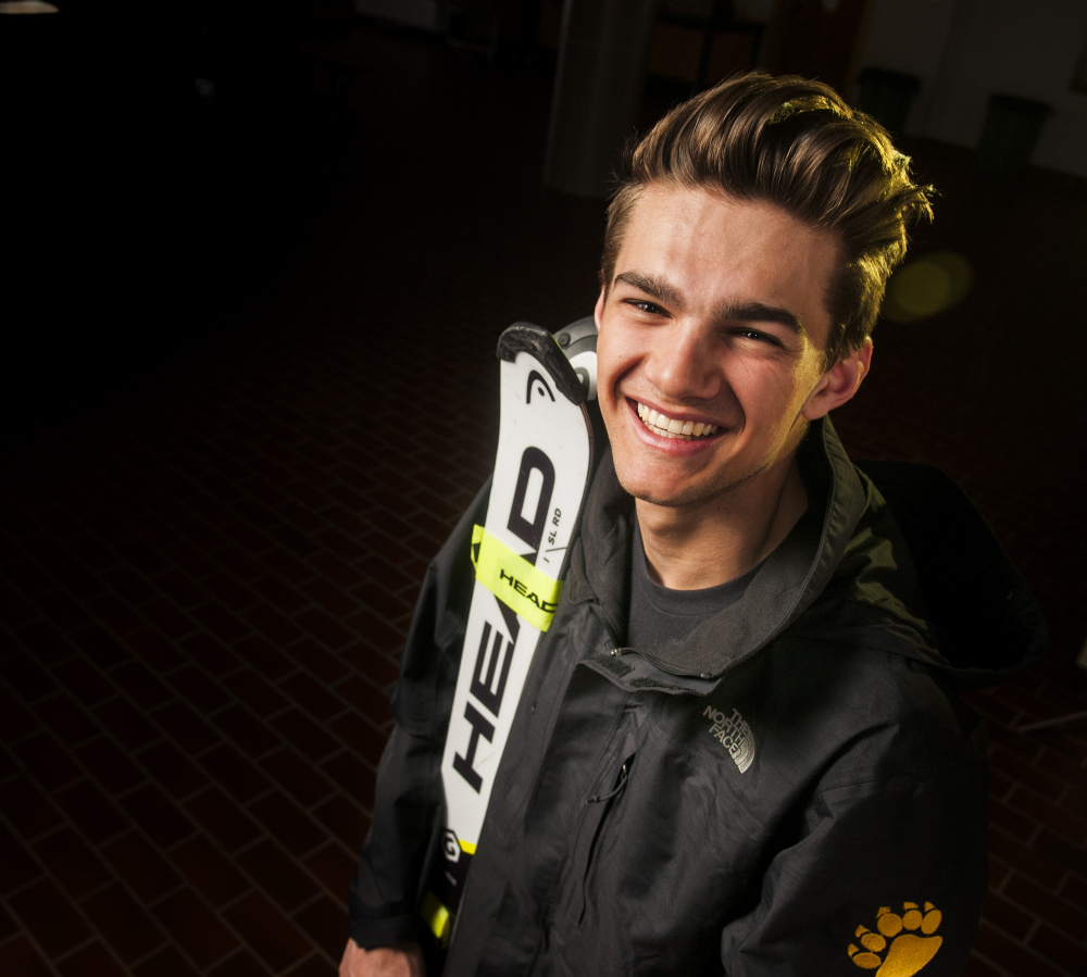 Nathan Delmar of Maranacook is the Kennebec Journal Alpine Boys Skier of the year.