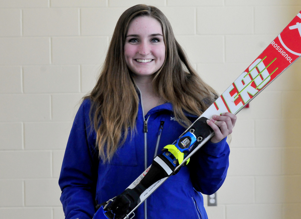 Mount Blue sophomore Jenna Hanrahan is the Morning Sentinel Girls Alpine Skier of the Year.