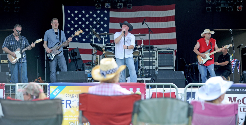 The band Bad Penny on July 3, 2014, performs at Fort Halifax Park in Winslow as part of the Winslow Family 4th of July Celebration.