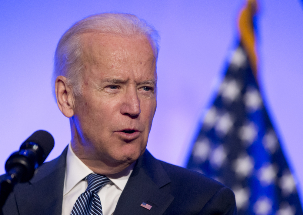 Vice President Joe Biden, seen here on May 9, 2016, will speak at Colby College's commencement on May 21.