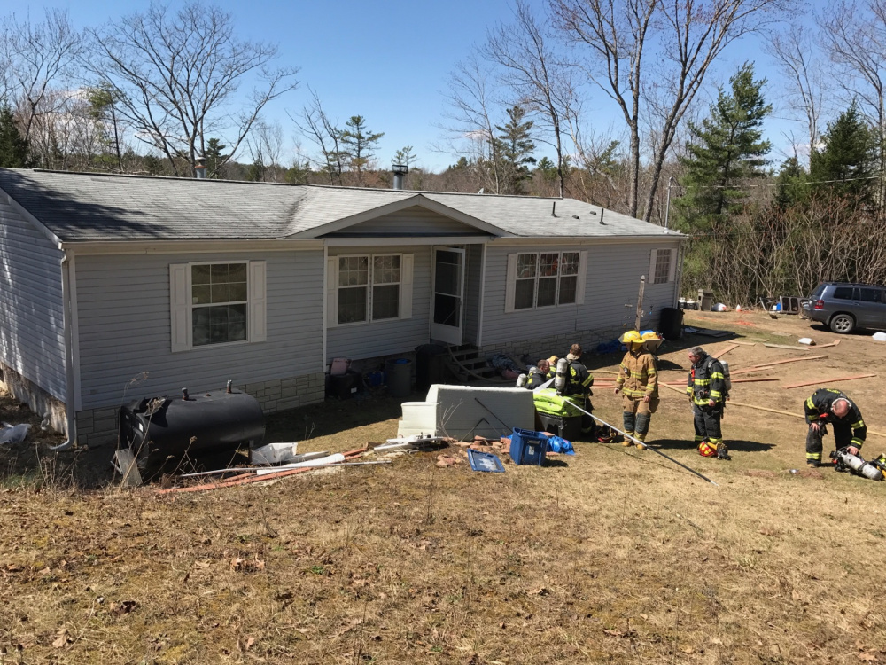 A mobile home on South Clary Road was damaged by fire Monday afternoon.
