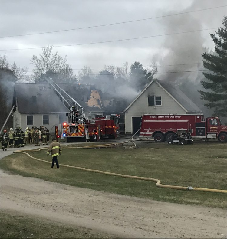 Firefighters responded Wednesday afternoon to the scene of a house fire at 28 Hurley Drive, just off Langdon Road in Richmond.