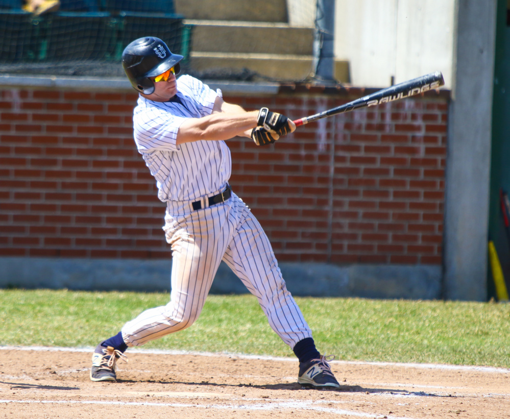 Winslow native Dylan Hapworth is enjoying a standout season for the University of Southern Maine baseball team this season. Entering play Thursday, he led the Huskies with seven home runs and a .429 average.