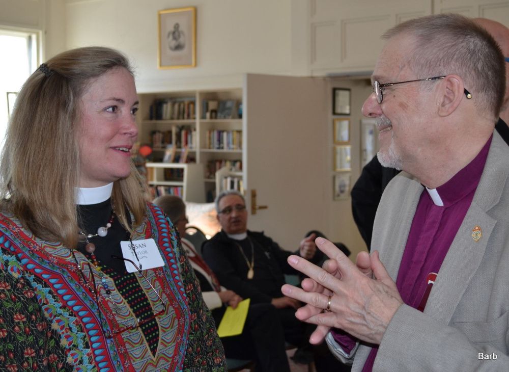 The Rev. Susan Berry Taylor with the Rt. Rev. Stephen T. Lane, Bishop of Maine, April 11.