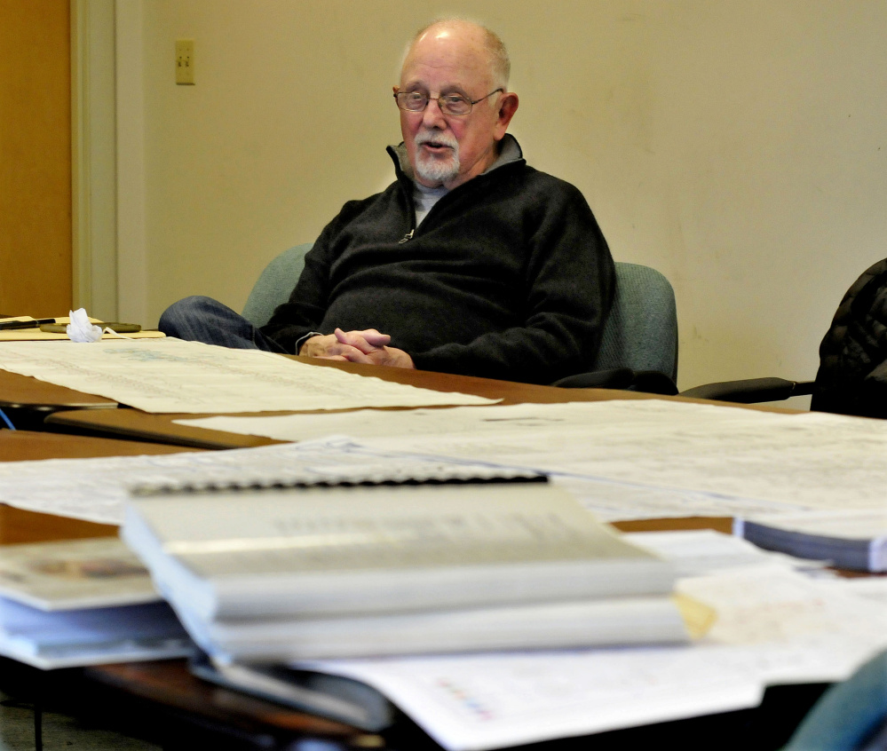 Surrounded by documents and schematics of Madison Paper Industries mill equipment Wednesday, Jerome Epstein, chairman of Perry Videx company, described efforts to liquidate the former Madison mill company assets.