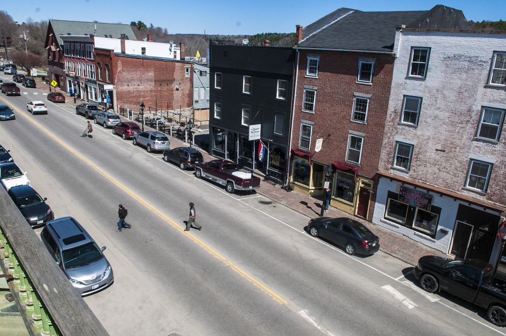 This 2017 view shows Water Street in Hallowell, which will be rebuilt in 2018. Residents are invited to attend an informational session about the project at 5 p.m. Thursday at City Hall.