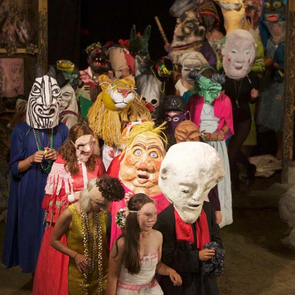 "Bread and Puppet Theater performs ""Faust 3."""