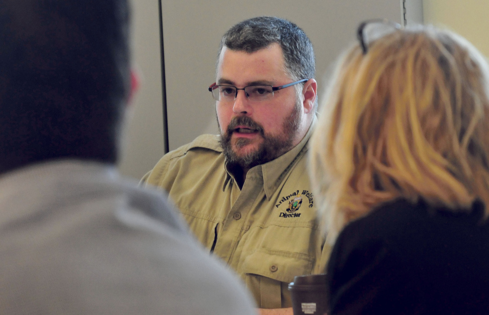 Liam Hughes, director of the state Animal Welfare Program, met with the Animal Welfare Advisory Council on Thursday in Augusta to talk about improving laws dealing with dangerous dogs.