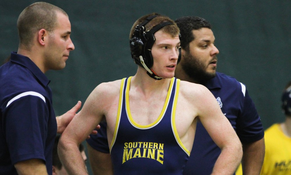 University of Southern Maine senior Dan Del Gallo, a Gardiner Area High School graduate shown in 2016, told a local school finance committee earlier this week that wrestling develops character as no other sport does, in an effort to persuade them to continue to fund the Gardiner program.