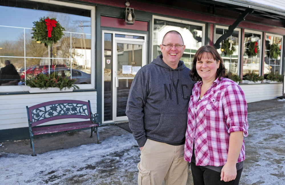 Levon and Kimberly Travis stand on Jan. 6 in front of their Richmond restaurant, Kimberly's Restaurant & Lounge. It's one of two businesses hoping to ask Richmond voters to try again to lift the prohibition against Sunday alcohol sales.