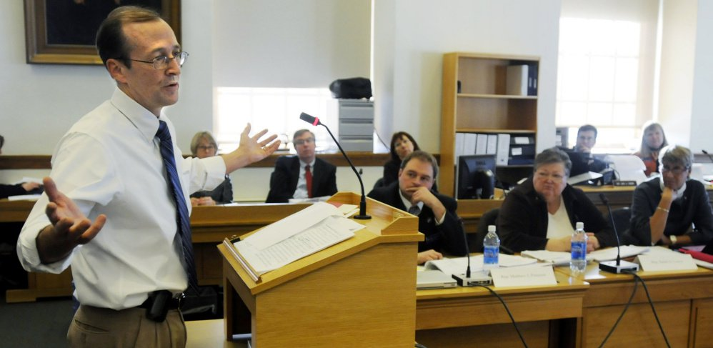 "Dr. Erik Steele, shown in this 2009 file photo while testifying in front of a legislative committee, says it's ""inevitable"" that the Maine Legislature will eventually pass a bill allowing physician-assisted suicide."