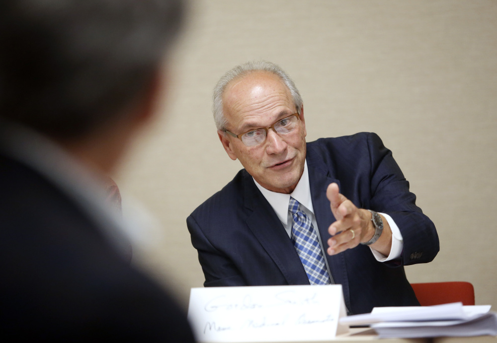 Gordon Smith, executive vice president of Maine Medical Association, shown in a 2015 file photo, said the association's board voted last week to drop its long held opposition to physician-assisted suicide and taken a neutral position, at least temporarily.