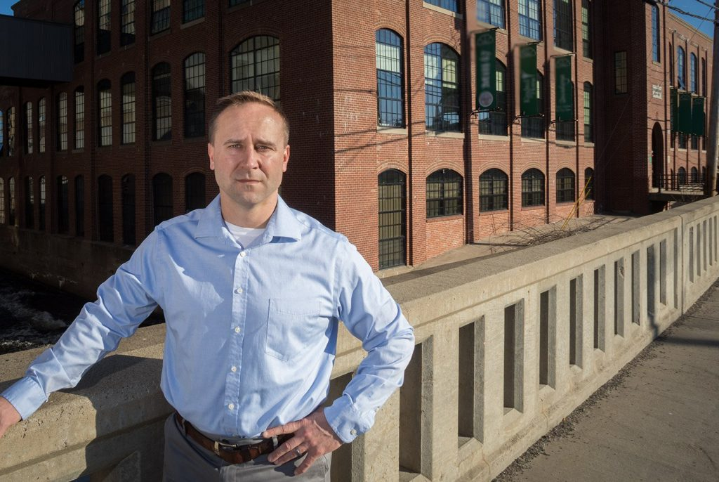 Democrat Adam Cote, of Sanford, is a renewable energy entrepreneur and veteran who is running for governor.