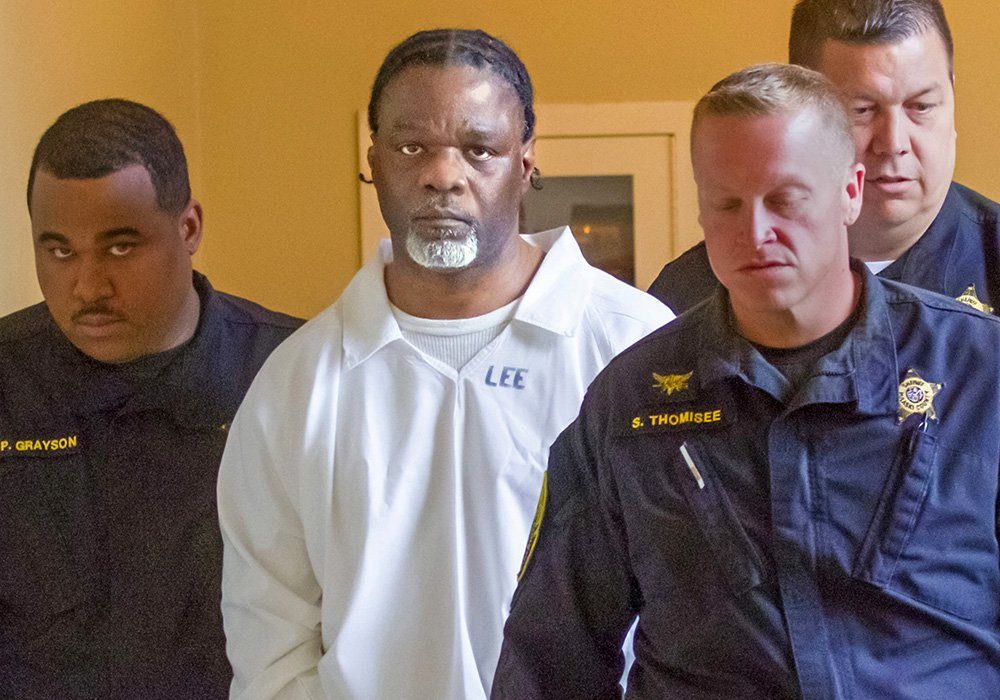Ledell Lee appears in Pulaski County Circuit Court on Tuesday for a hearing in which lawyers argued to stop his execution. He was executed Thursday night after state justices reversed an order that halted the use of vecuronium bromide, one of three drugs used in the state's lethal injection process.
