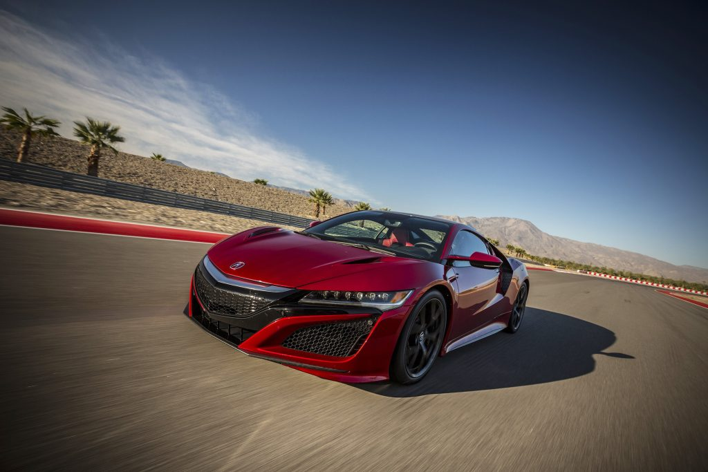 The Acura NSX's driving mode selections are Sport, Sport +, and Track and Quiet. There is no Normal, Standard, or Boring.