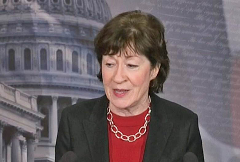 """Sen. Susan Collins: """"Regardless of our past disagreements . . . we are united in our determination to preserve the ability of members to engage in extended debate when bills are on the Senate floor."""""""