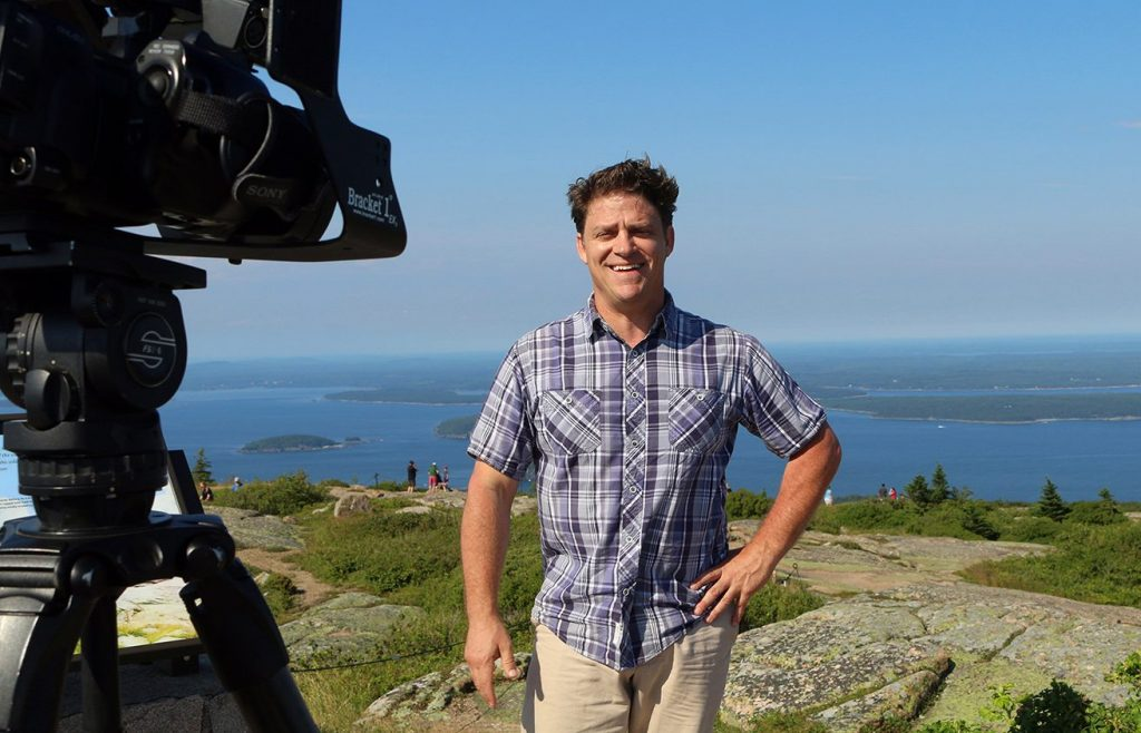 "Tom Johnston, seen at Acadia National Park, loved Maine, said Brian Cliffe, general manager of WCSH. ""Clearly from the outpouring of support, Maine loved him right back."""
