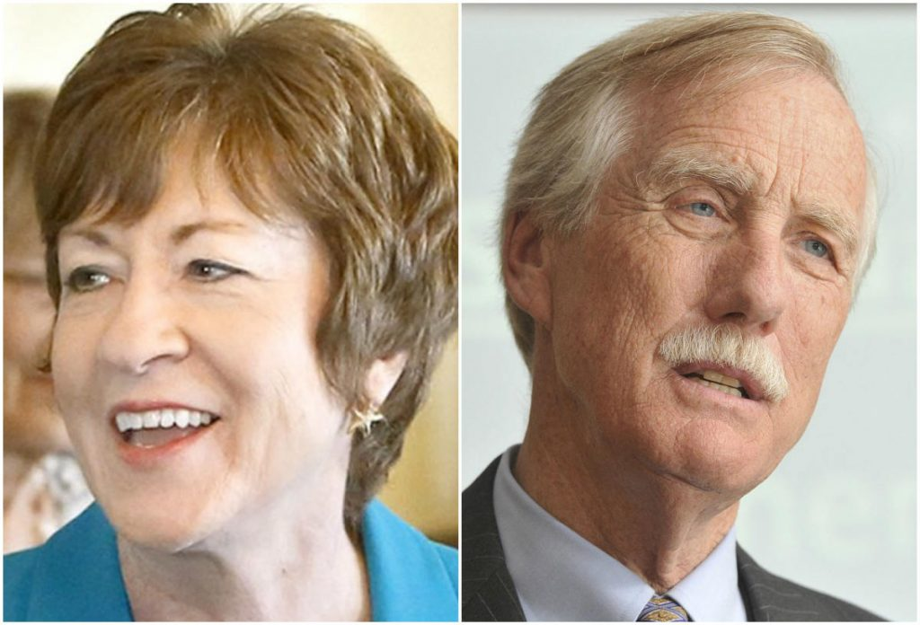 Sens. Susan Collins and Angus King