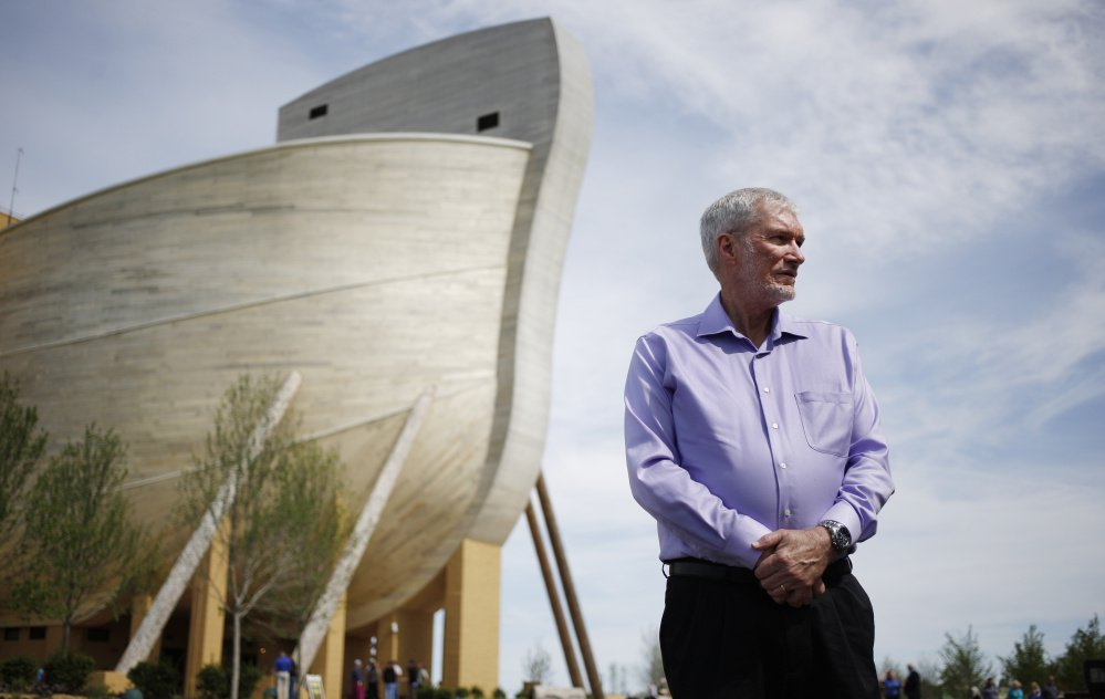 Ken Ham, founder of the creationist ministry Answers in Genesis, wants to attract both believers and nonbelievers to his five-story-high ark, where anti-evolutionary teachings are illustrated on a grand scale.