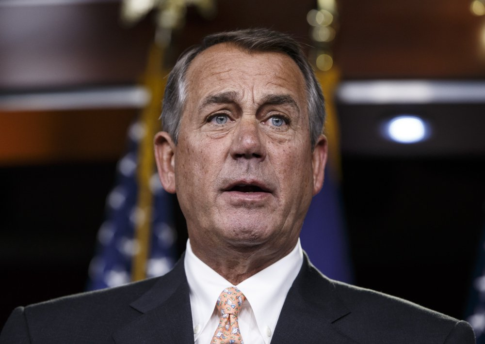 "Associated Press/J. Scott Applewhite Former House Speaker John Boehner says that President Trump's time in office has been a ""complete disaster."""