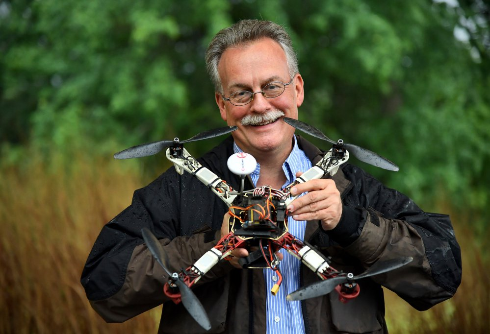 A lawsuit by John Taylor, seen with one of his drones, upended a national registration system that was supposed to balance public safety and the rights of the growing legions of amateur drone pilots. Washington Post/