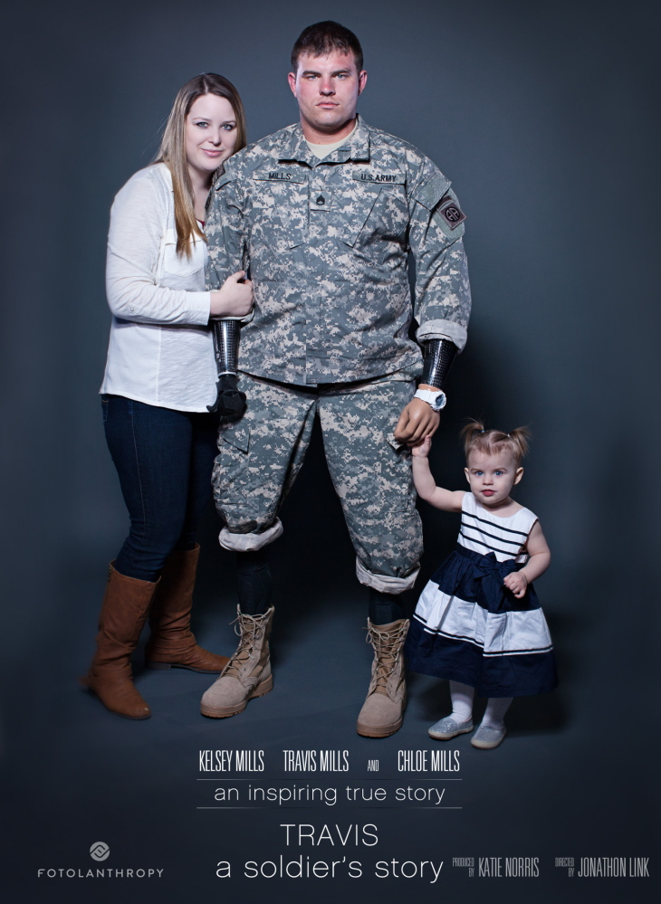 """This poster from the documentary """"Travis: A Soldier's Story"""" promotes a film that's now available on Netflix."""