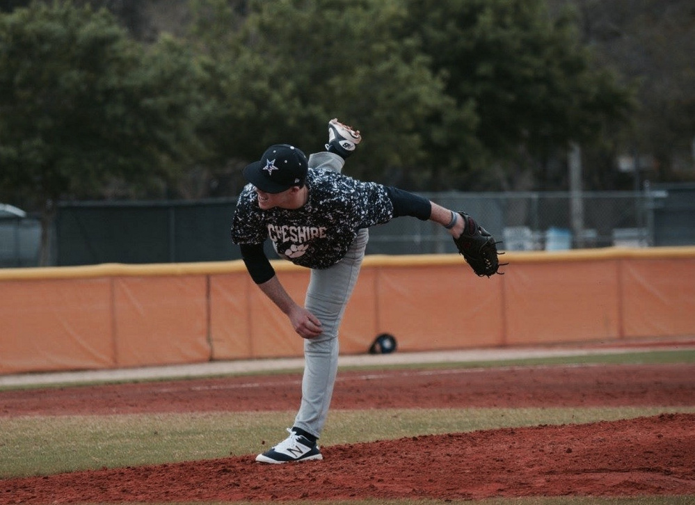 Dresden native Mike Stewart throws a pitch for Cheshire Academy last season.