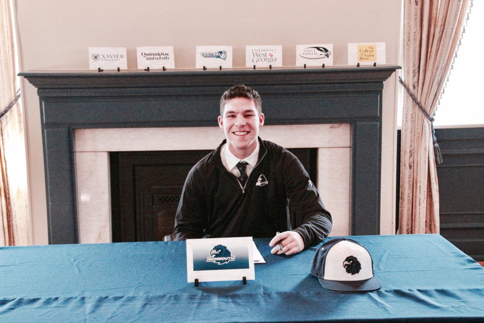 Mikey Stewart of Dresden signs a letter of intent to play baseball at Monmouth University, beginning next season.