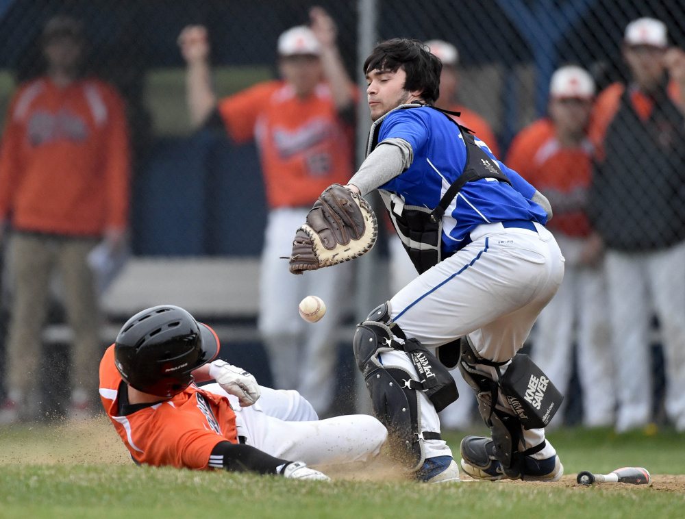 Erskine catcher Nick Turcotte threw out 60 percent of runners trying to steal a base last season.