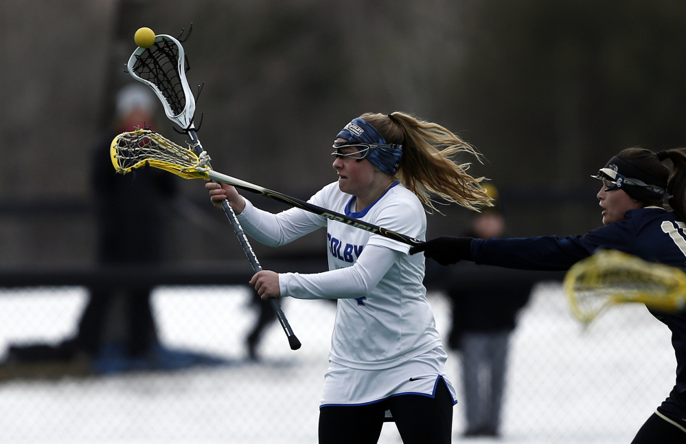 Freshman midfielder Grace Crowell and the Colby women's lacrosse team is off to the NCAA Division III tournament.