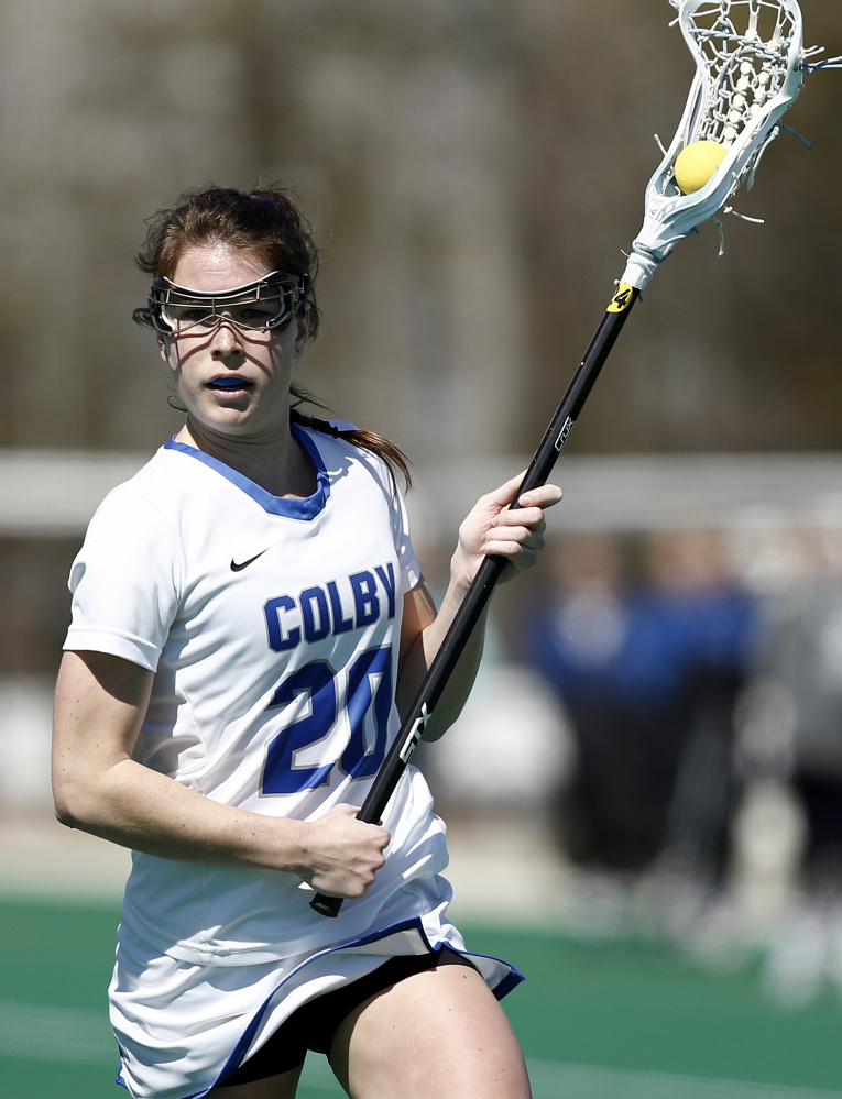 Emilie Klein scored four goals for Colby in a come-from-behind win over Trinity in the NESCAC championship game.