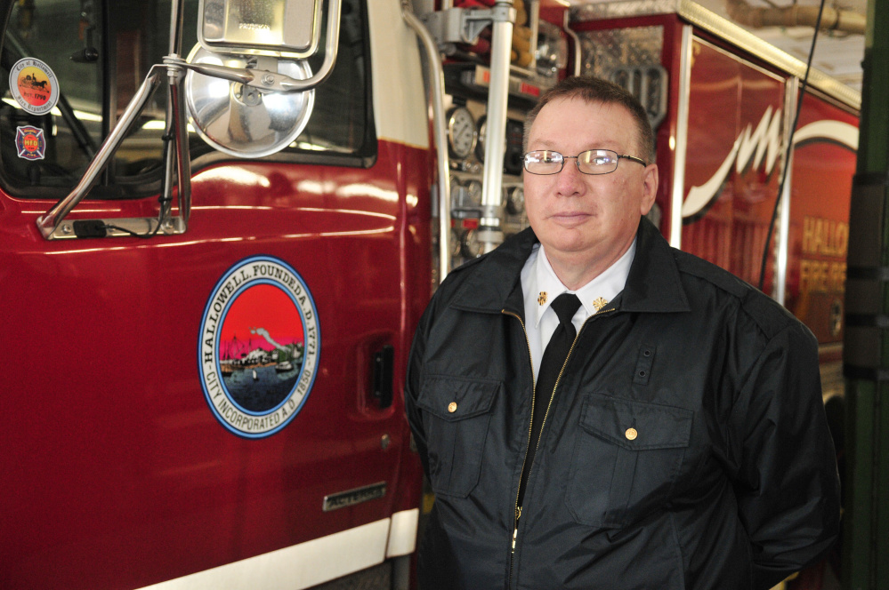 Hallowell Fire Chief Jim Owens poses for a portrait Feb. 8 in the Hallowell Fire Station.