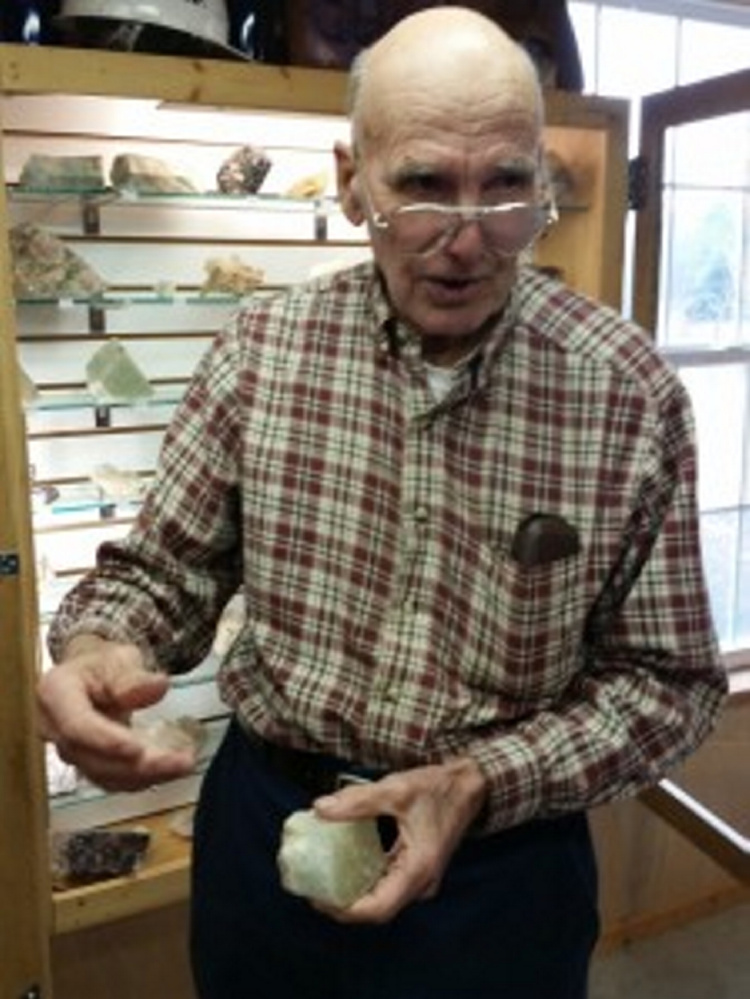 "Frank Perham will speak on ""Oxford County Gem Bearing Litha Pegmatites"" onf May 17 during the Kennebec Historical's May presentation."