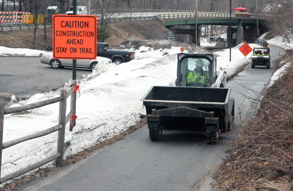 Work began last month at Millikens Crossing Bridge in Hallowell, but traffic should be back to normal Friday.